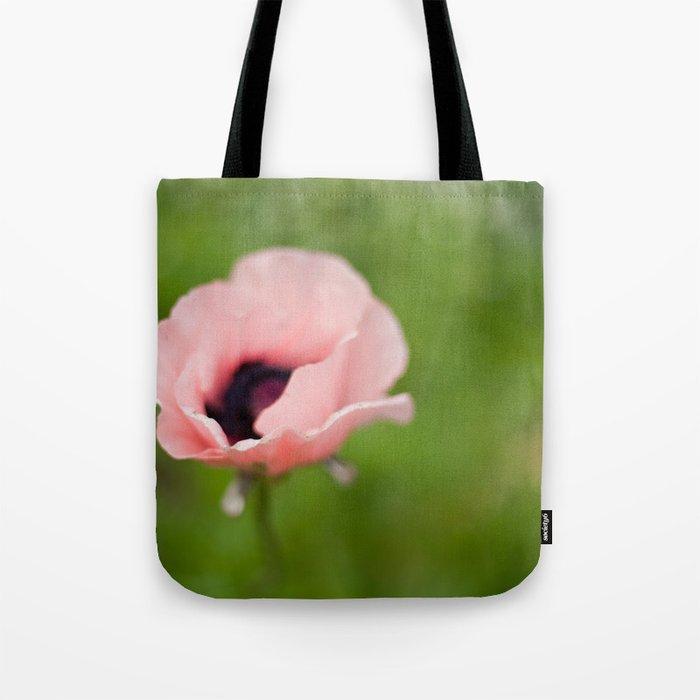 Peachy poppy Tote Bag