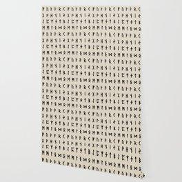 Nordic Runes // Whale Bone Wallpaper