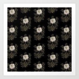 Mysterious Medieval Flower Pattern Art Print