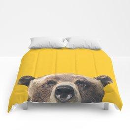 Bear - Yellow Comforters