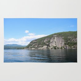 Roger's Rock on Lake George in the Adirondacks Rug
