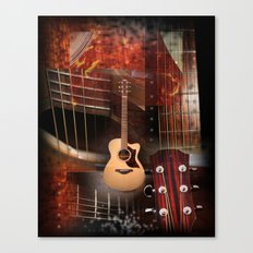 The Acoustic Guitar  Canvas Print