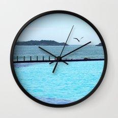 Swimming Pool Gull Wall Clock