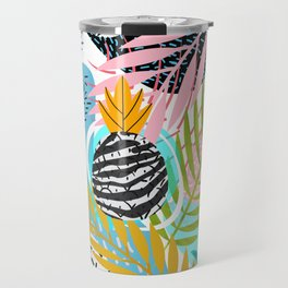 abstract palm leaves Travel Mug
