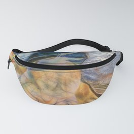 Abstract beautiful rocks on the sand Fanny Pack
