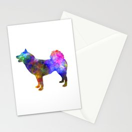 Greenland Dog in watercolor Stationery Cards