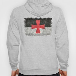 Knights Templar Flag in Super Grunge Hoody