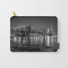Nightly Stroll along the East River | Monochrome Carry-All Pouch