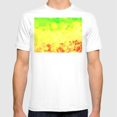 CELLS MEDIUM White Mens Fitted Tee