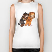 fili Biker Tanks featuring Halloween Fili and Kili by Hattie Hedgehog