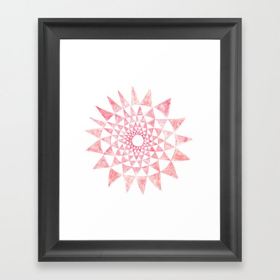 mandala:triangles Framed Art Print