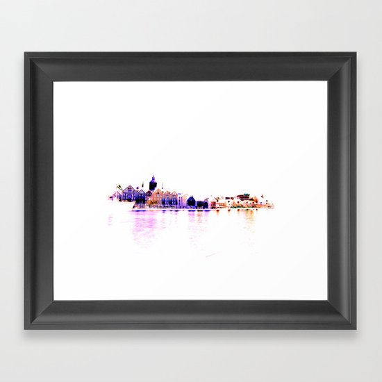 white harbor III. Framed Art Print