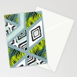 Libolo tropical pam leaves Stationery Cards