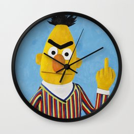 Bert flipping the Bird Wall Clock