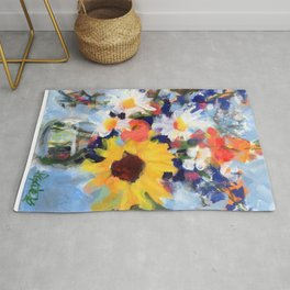 Sunny Day Bouquet Rug