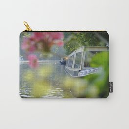 The Flowering look at a boat on the Little Venice canals in London   Color Photography   Travel Photography   Photo Print   Art Print Carry-All Pouch