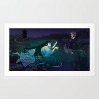 siren Art Prints featuring Siren by Katie Badenhorst