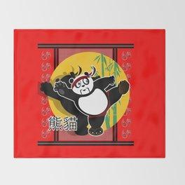 Martial Arts Panda Throw Blanket