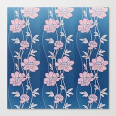 Rose Quartz Flower Garlands Canvas Print