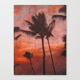 Maui Palms at Sunset Canvas Print