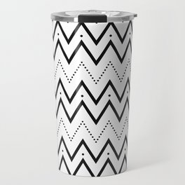 Black lines and dots pattern Travel Mug