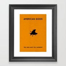 American Gods Minimalist Poster - Laura Framed Art Print