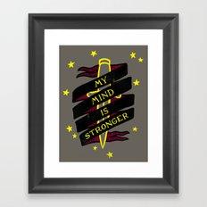 Contender Framed Art Print