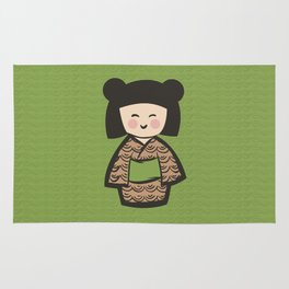 Geisha Dress Code (green) Rug