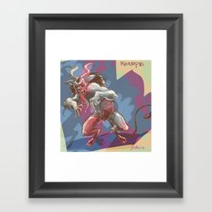 Psycho Krampus Framed Art Print