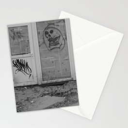 Death's newspaper booth Stationery Cards