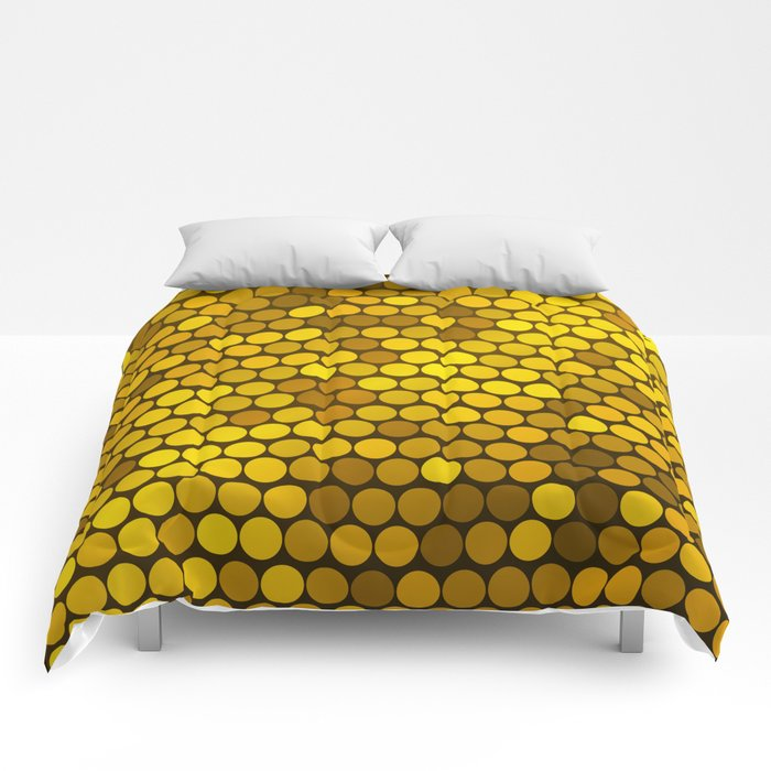 Pure Gold Dots Background Comforters