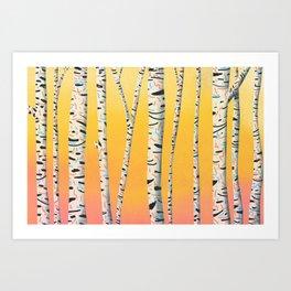 Tree Party Art Print