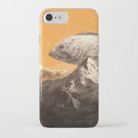 bass iPhone & iPod Cases featuring Mountain Bass by Sam Rowe Illustration