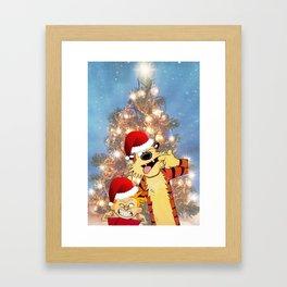 Calvin Hobbes Christmas Framed Art Print