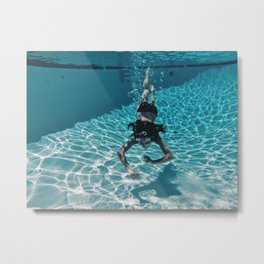 UNDERWATER DIVE Metal Print