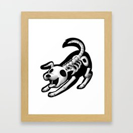 Skeleton dog Framed Art Print