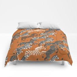 Zebra Race Comforters