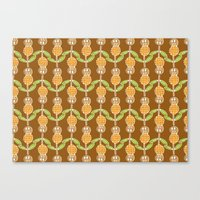70s Canvas Prints featuring 70s Flowers by Apple Kaur
