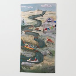 Canoeing Beach Towel