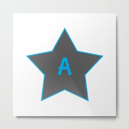 Initials | Star | A Metal Print