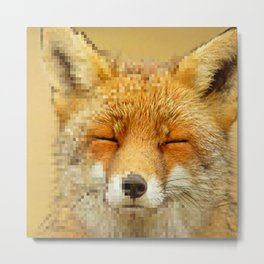 fox rendering Metal Print