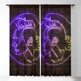 Ace Ventura neon art Blackout Curtain