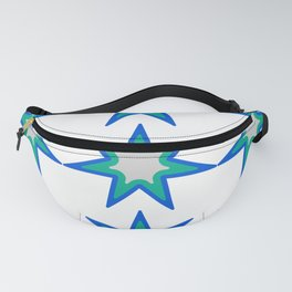 pattern of colorful stars Fanny Pack