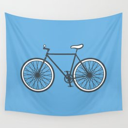Fixie Bike Illustration Wall Tapestry