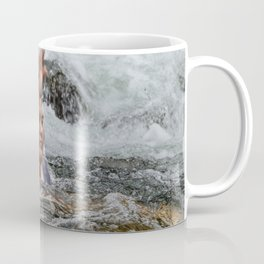 Gaby in the powerful Mameyes river - El Yunque rainforest PR Coffee Mug