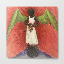 Magnificent African American Masterpiece, The Black Angel of the Lord portrait painting  Metal Print