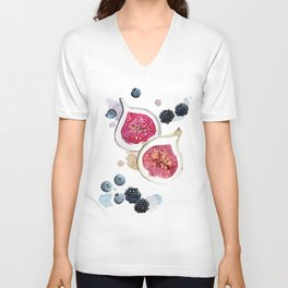 Figs and Berries Unisex V-Neck