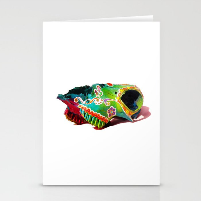Colorsfull sheep skull Stationery Cards