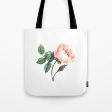 Illustration with watercolor rose Tote Bag