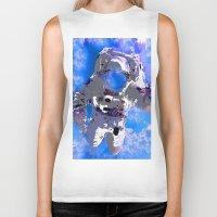 astronaut Biker Tanks featuring Astronaut  by Saundra Myles